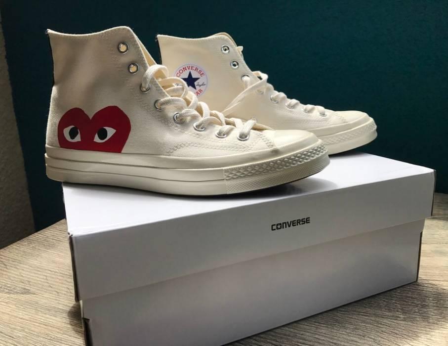 72fad83fda54 Converse Comme Des Garçons Peek-a-boo Canvas Sneakers Size 9 - Hi ...