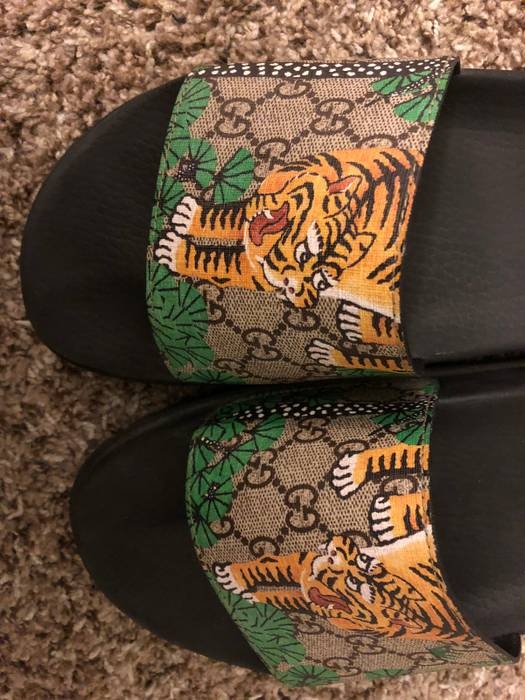 d643244ffb48 Gucci Flip Flops Tiger OFFER Size 12 - Sandals for Sale - Grailed