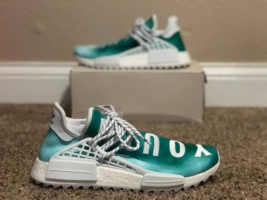 new concept e1f98 8f259 Adidas Pharrell Williams x Adidas NMD Hu Trail China Exclusive Youth Green  F99760 US 10 Size