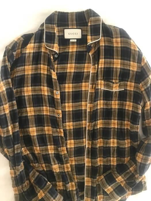 Gucci Gucci Yellow Plaid Flannel Size L Large Size US L   EU 52-54 466b9fc6d38