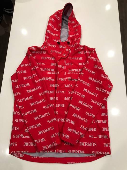 supreme supreme f w 16 3m reflective repeat tape seam jacket size l