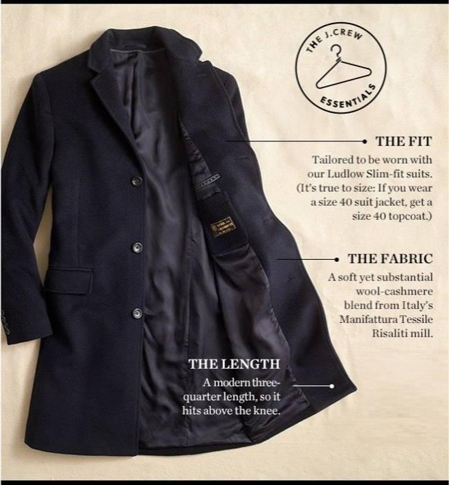 23fb97cf27b J.Crew Ludlow topcoat in Italian wool-cashmere Size s - Heavy Coats ...