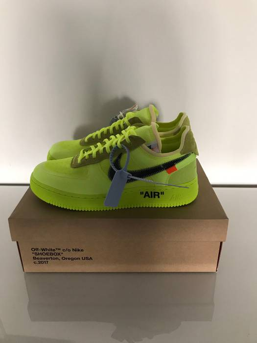 Nike Air Force 1 Low Off White  Volt  Size 9.5 - Low-Top Sneakers ... 54a651eed