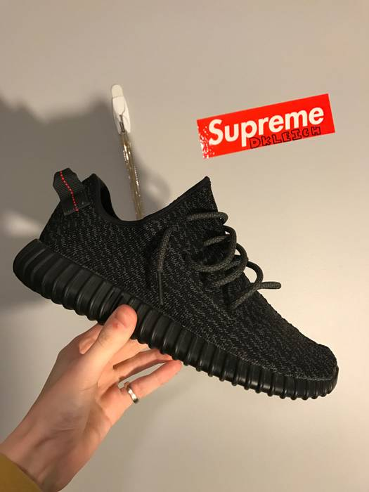 54cfca4c2b4 Adidas Kanye West Pirate Black 1.0 Yeezy Boost 350 Size US 10.5   EU 43-
