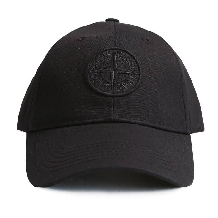 Stone Island Embroidered Compass Logo Strap Hat (Black) Size one ... f424ec8128c