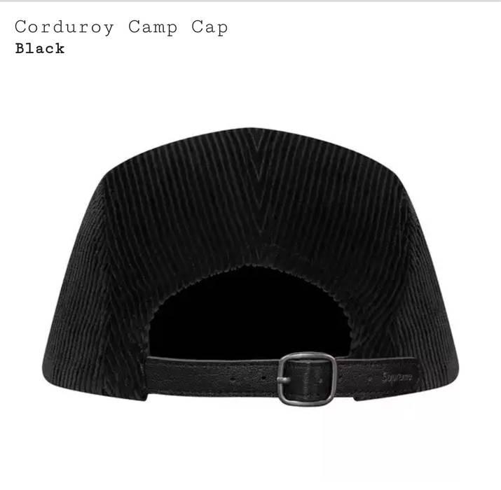 a823af2a8b4 Supreme Corduroy Camp Cap Black - Playground and Camp Photos ...