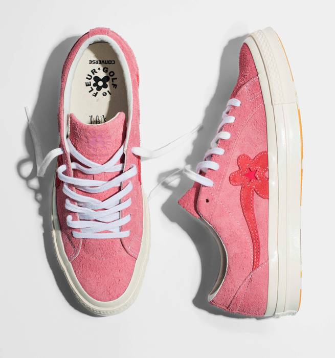 2303449404e Converse Converse X Tyler The Creator One Star Suede Golf Le Fleur -  Geranium Pink Size