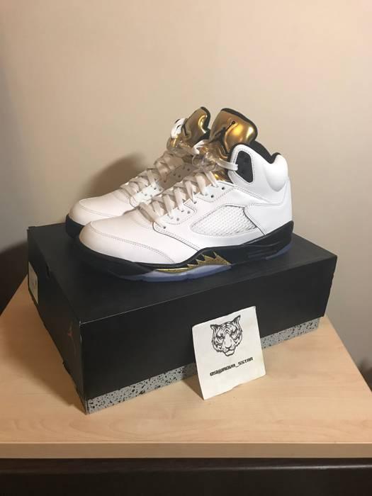 287edc26d129f0 Jordan Brand. Nike Air Jordan 5 Retro V Rio Olympics Gold Tongue ...