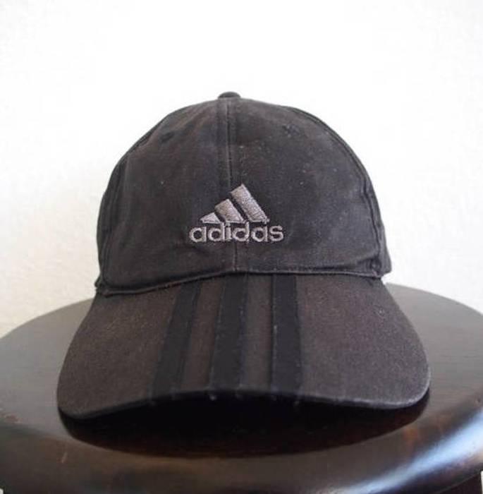 Adidas ADIDAS Equipment Cap Big Logo Vintage 90s Sportswear Adidas Black Hat  Adjustable Baseball Hat Snapback 859dbfe98664