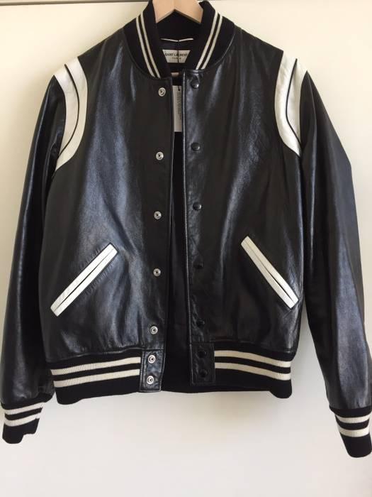 81181cc1e23 Saint Laurent Paris Stripe Varsity Jacket Size l - Bombers for Sale ...