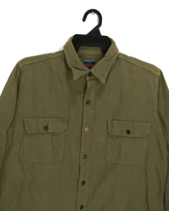 45rpm 45rpm Button Up Long Sleeve Shirt Olive Green Colour Size L