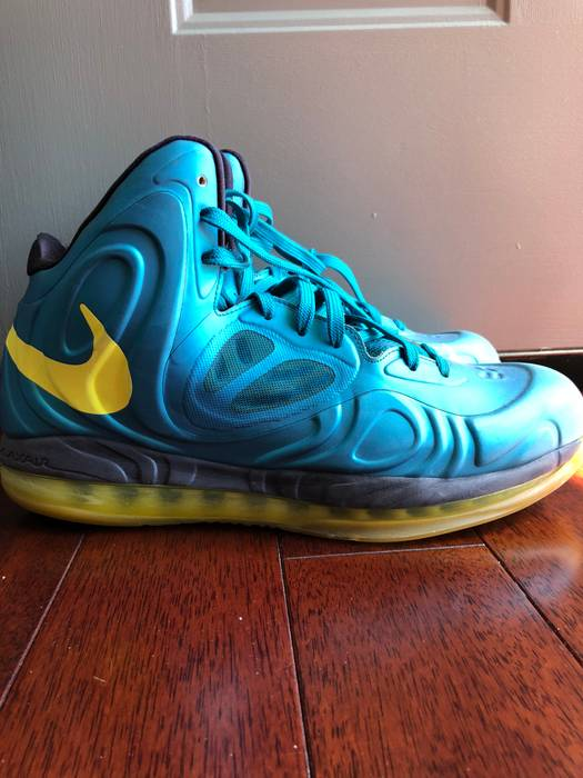 15114963798 Nike Nike Air Max Hyperposite Tropical Teal Sonic Yellow Blue Size ...
