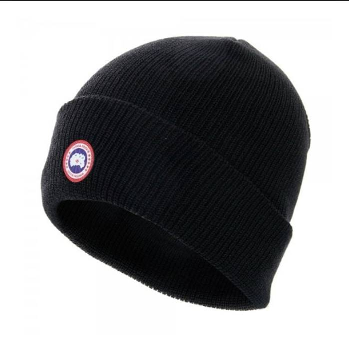 Canada Goose Black Merino Wool Beanie Size one size - Hats for Sale ... ba45d9dd3f1