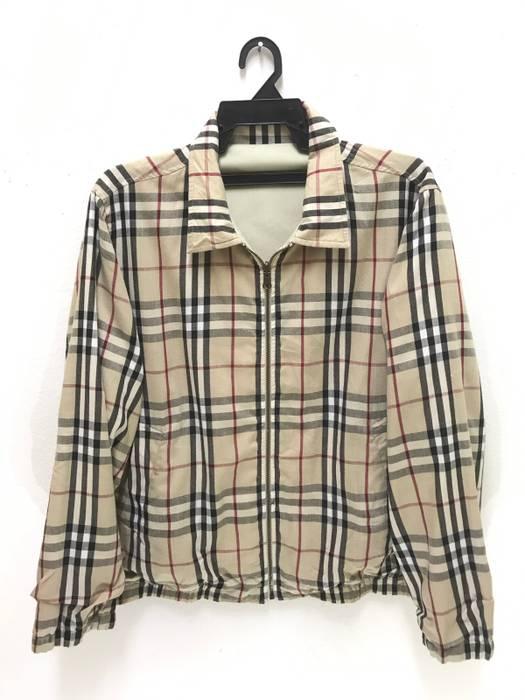 Burberry. Reversible Burberry London Nova Checked Plaid Tartan Cotton Jacket 6e2be39a515e1