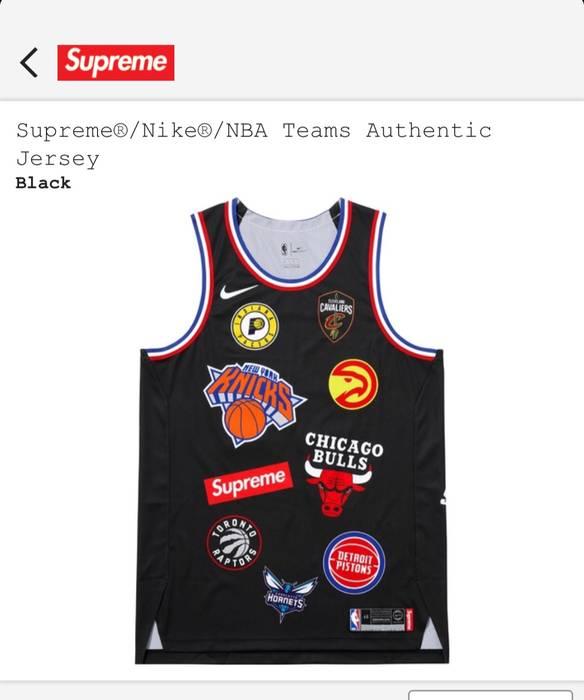 8bdbaf18eba Supreme Supreme x Nike NBA Jersey Black Size m - Jerseys for Sale ...