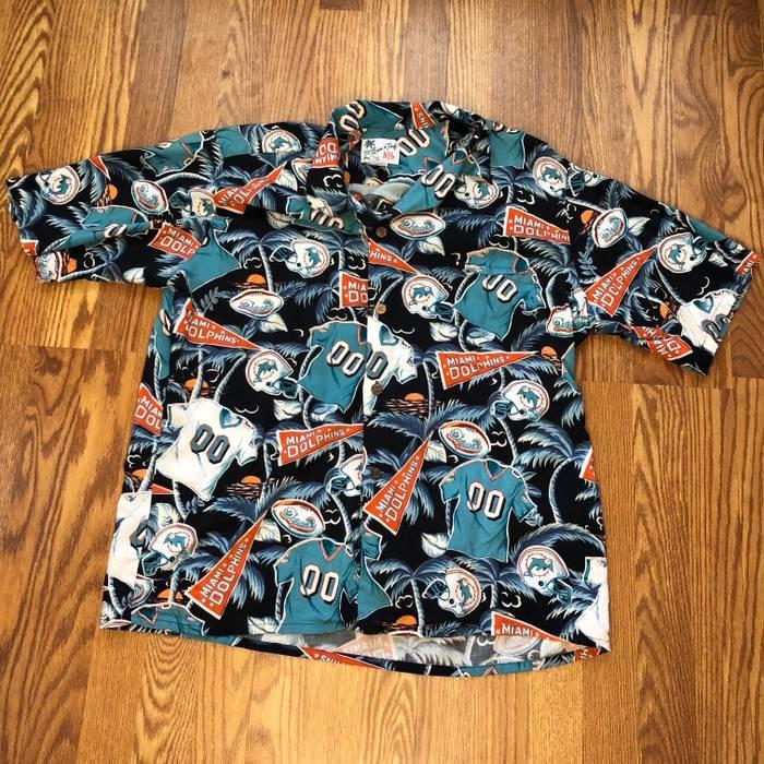 06b38e735 Vintage Miami Dolphins Allover print Hawaiian Shirt Size US XXL   EU 58   5