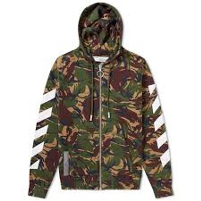 Off White Off White Camo Hoodie Size L Sweatshirts Hoodies For
