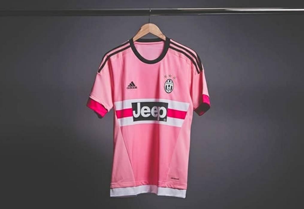 3b4c2ac78ed Adidas JEEP Juventus Pink Retro Drake Soccer Football Shirt Jersey ...