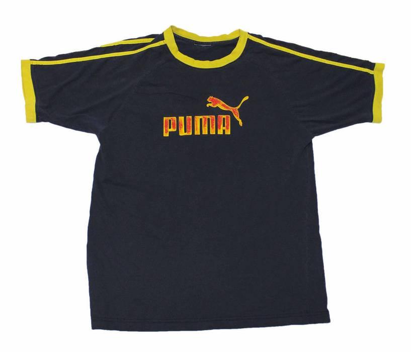 Vintage Vintage Puma Navy Blue Ringer Shirt Mens Streetwear Sportswear Size  M Medium Size US M 7dc3716f1