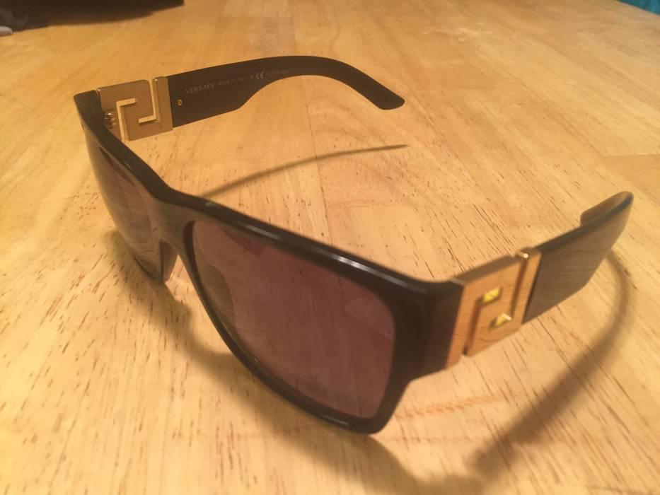 19b57575f1 Versace Black   Gold Polarized Sunglasses Mod. 4296 Size one size ...