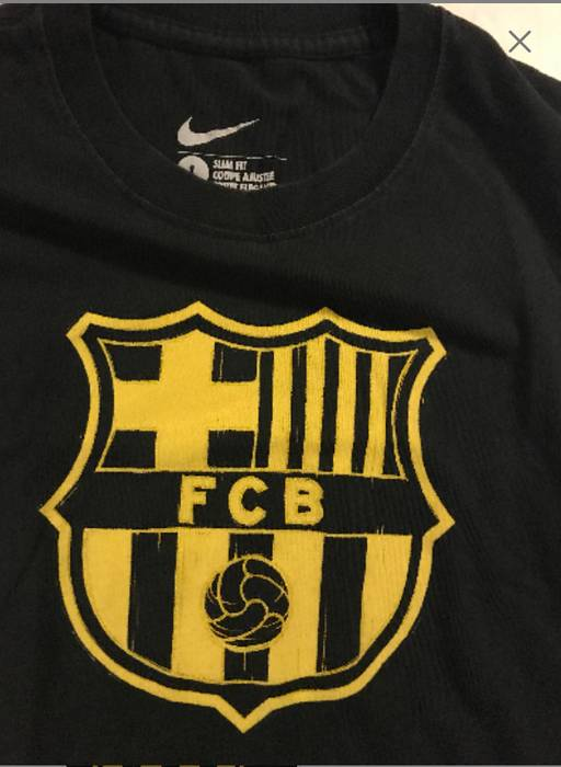 Nike NIKE FC BARCELONA T SHIRT Spain Soccer Size m - Short Sleeve T ... 9d4aa5ff04d0