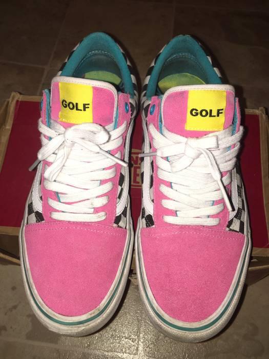 Golf Wang Golf Wang x Old School Vans Blue Pink Size 10.5 - Low-Top ... 4e747860c
