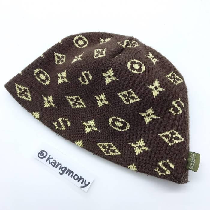 Supreme Supreme Louis Vuitton Monogram Beanie Brown 2000 Size ONE SIZE cbe0b1d9b97