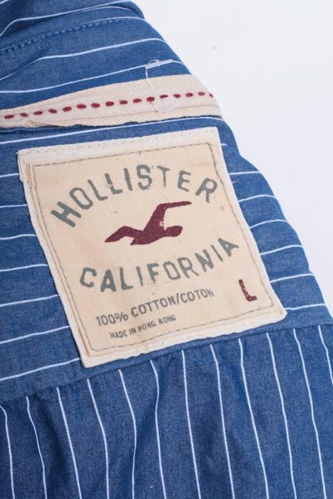 7b4c99d63a1 Hollister Hollister California Mens L Casual Shirt Blue Cotton Buttons Down  Striped 8302 Size US L