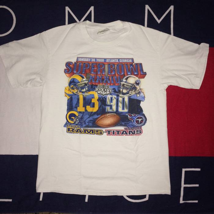 Lee VINTAGE SUPER BOWL XXXIV T-SHIRT (2K) Size l - Short Sleeve T ... 4223ba97d