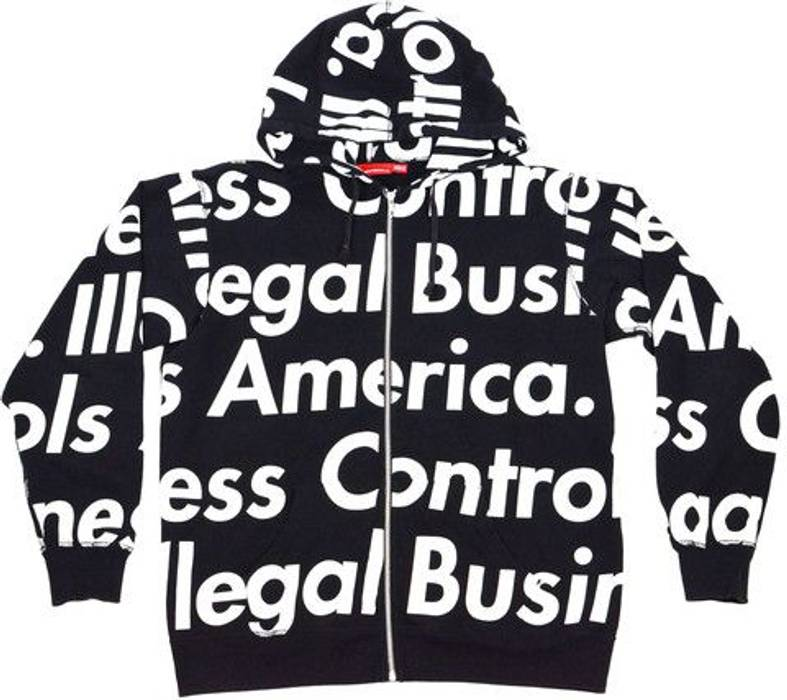 db2f29baf4d9 Supreme FINAL DROP! Supreme Illegal Business Controls America Hoodie Size  US L   EU 52