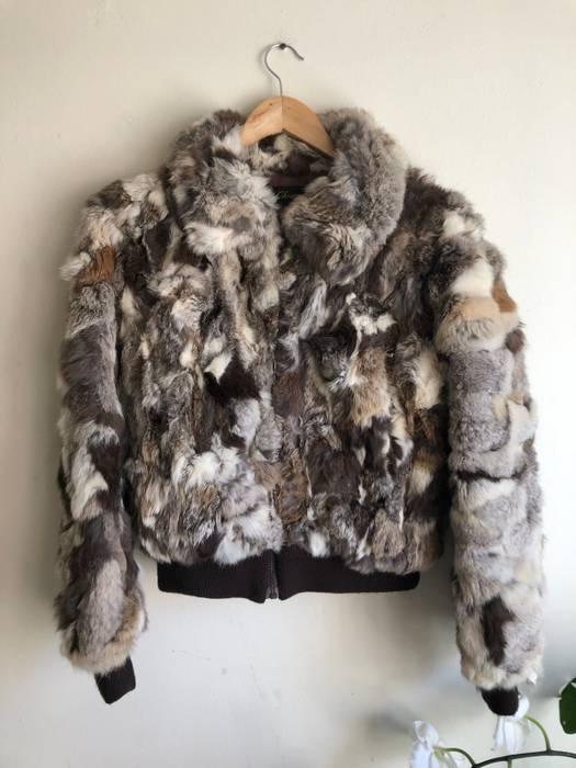 Vintage RESERVED FOR NIK 10 5 100% Genuine Rabbit Fur Spotted Brown Tan  White e5ca3d2ba