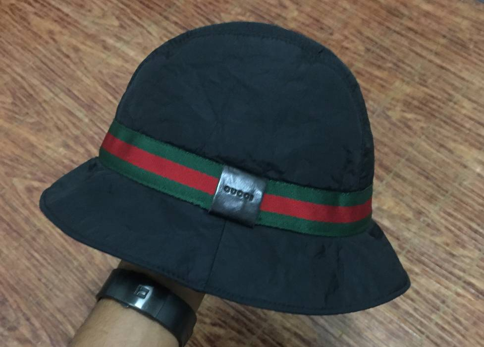 Gucci Rare! Black Gucci Bucket Hat Size M Size one size - Hats for ... 720b78ad2bc