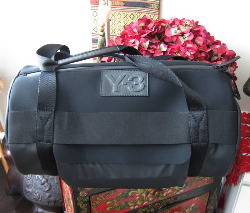 f3e55ece132f Y-3 Y-3 Yohji Yamamoto Qasa Round Neoprene Leather Duffel Gym Carryall Bag