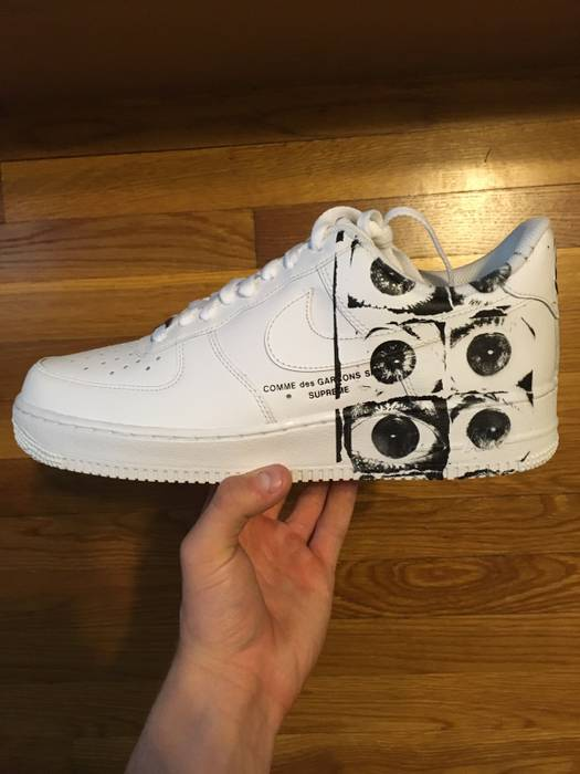 Supreme Supreme CDG Air Force 1 Size 9.5 - Low-Top Sneakers for Sale ... 3cd96b1f3