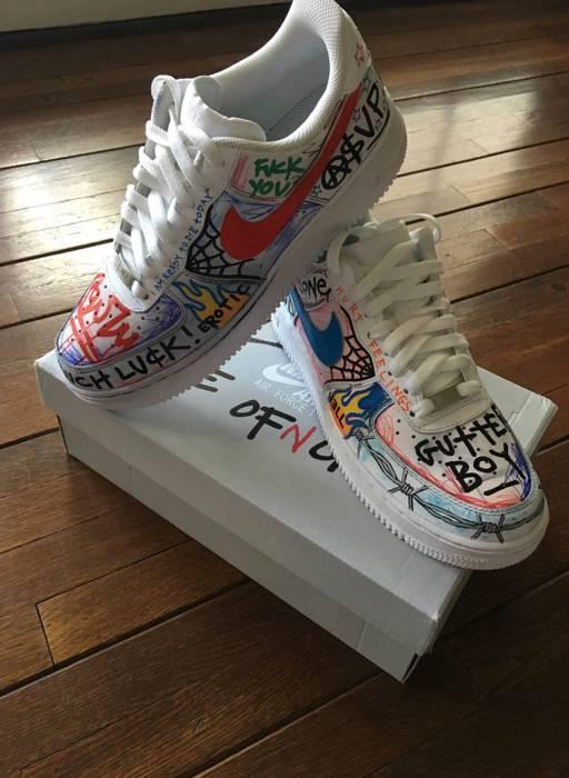 online store 1ef1f 895ce ... Vlone Nike Air Force 1 Vlone Customs Size US 8.5 EU 41-42 -  Pauly x  Vlone Pop Nike ...