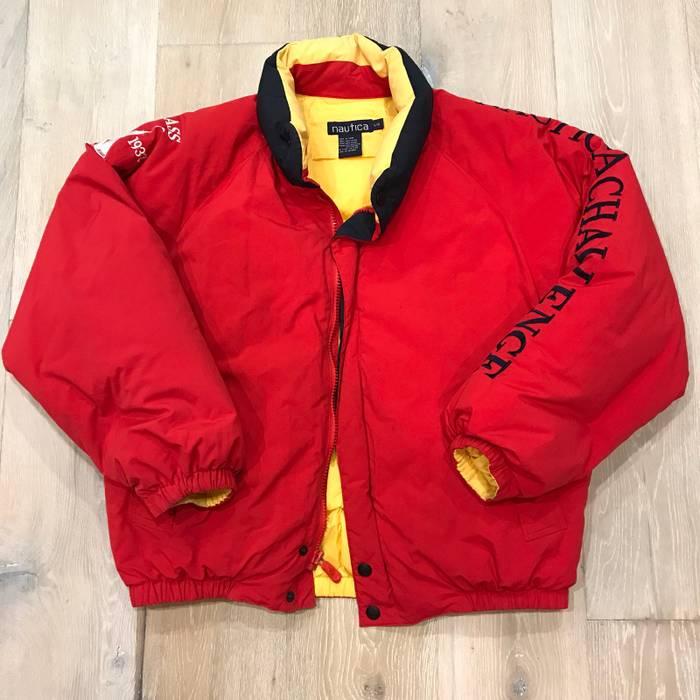 Vintage Vintage Nautica Puffer Jacket Size L Heavy Coats For Sale