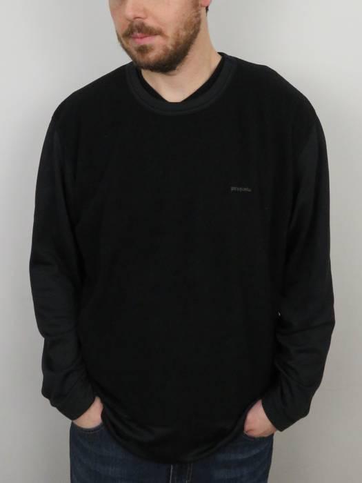b4d789b578ab Vintage Vintage Patagonia Black Long Sleeve Fleece Capilene Shirt Mens Size  XL Base Layer Crew Neck