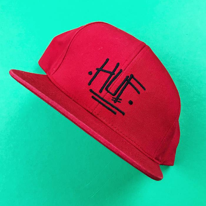 Stussy Stussy huf collab SnapBack hat red cap skate Size one size ... a292ba030a2