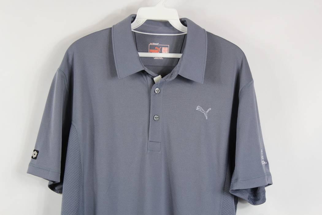 brand new ad10a 5536f Puma PUMA GOLF New Mens Medium Casual Polo Golfing Collared Shirt Cobra  Gray Solid Size US