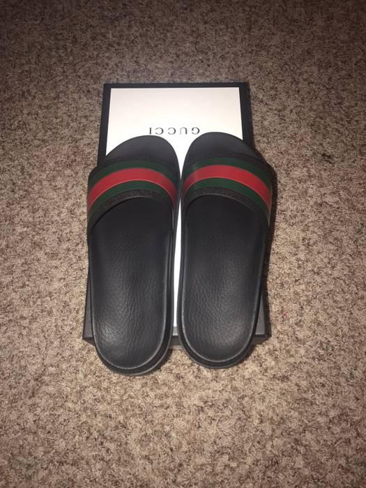 b69c12fcc83 Gucci Gucci Flip Flops Size 10 - Slip Ons for Sale - Grailed