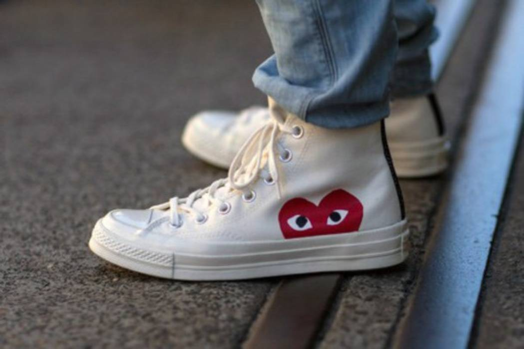 4f6cd25fecdf60 ... Comme des Garcons CDG converse high tops white (fits for someone sz  9.5-10 ...