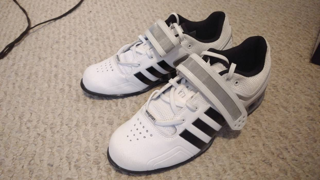 Adidas White Adipower Weightlifting Shoes Size 9 Size 9 - Low-Top ... bd1362d84