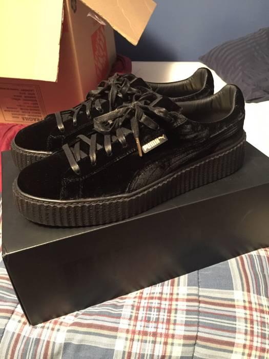 21385edf7ad188 Puma X Rihanna Fenty Puma Rihanna Black Velvet Creepers Size 12 ...