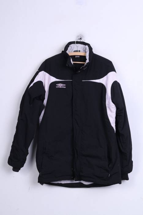 114159e8161 Umbro Umbro Mens XL Jacket Black Nylon Waterproof Hood Sport 1519 ...