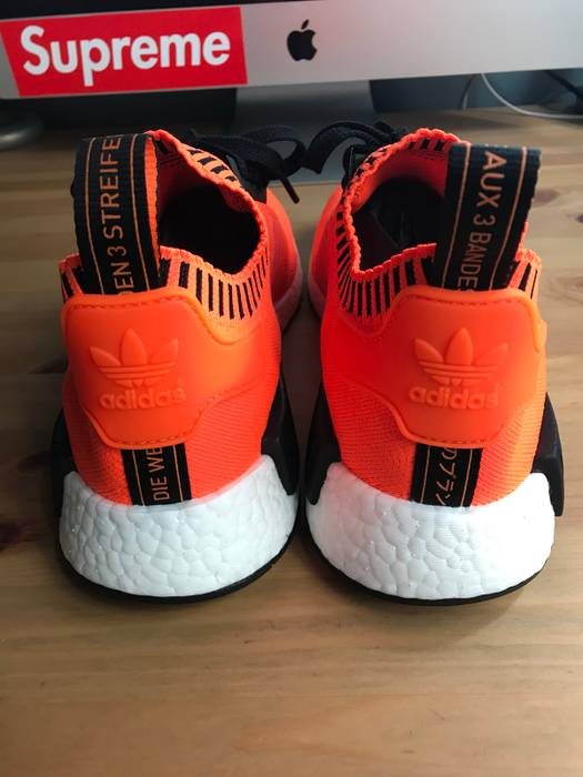 038098c447e4f Adidas Size  Exclusive NMD R1 Orange Noise Size 9.5 - Low-Top ...