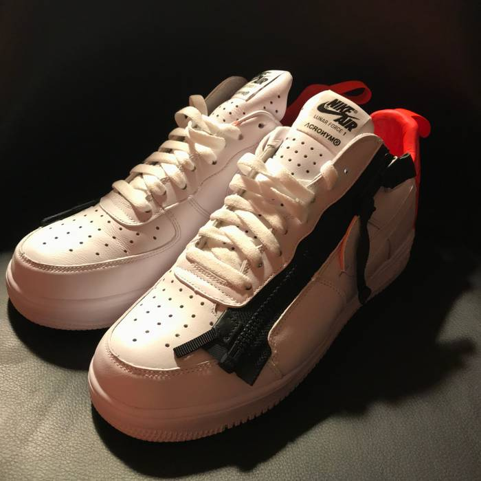 big sale 61be8 6c381 Nike ACRONYM x NikeLab Lunar Force 1 SP US9.5 UK9 CrimsonWhite