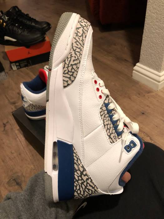 Jordan Brand Jordan Retro 3 OG True Blue Size 10 - Hi-Top Sneakers ... cb2a9e0e0