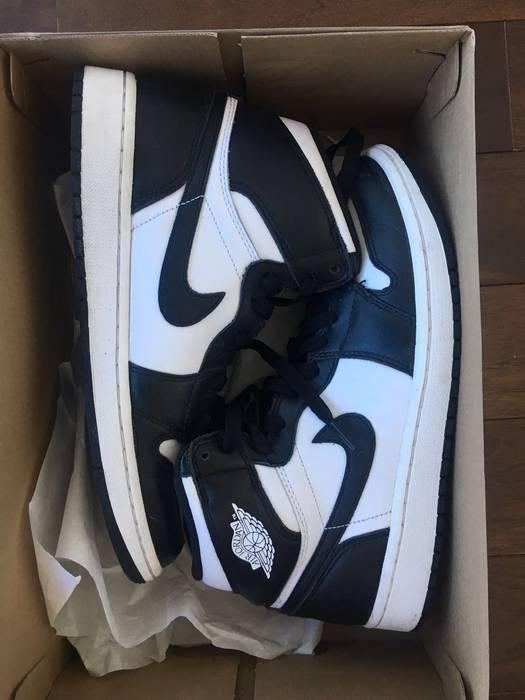 Jordan Brand Air Jordan 1 Retro High OG Black White 555088-010 Size ... 6c51634c6
