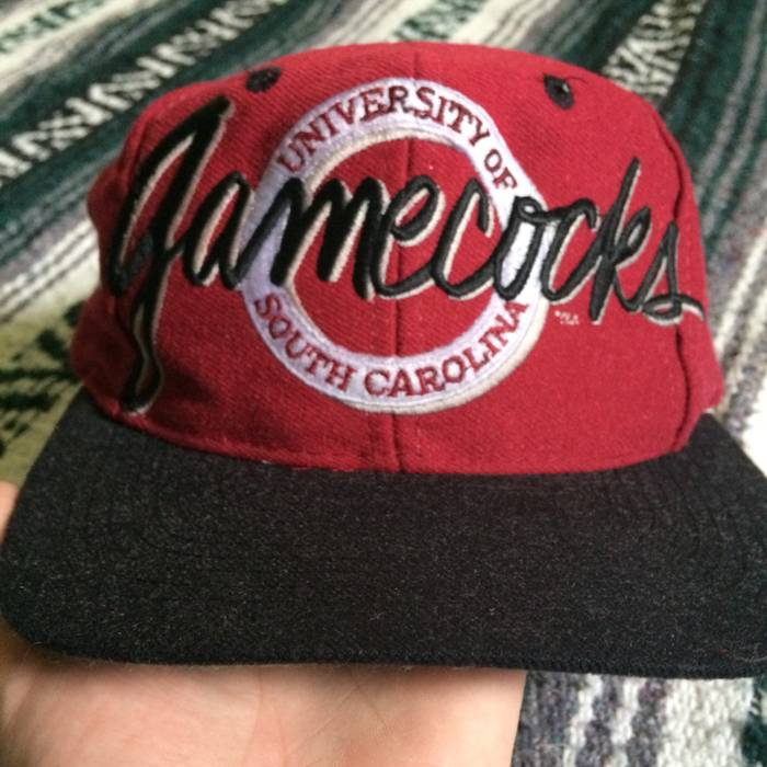 267fc2da9dd The Game Vintage 90s South Carolina Gamecocks Embroidered Script Spellout Snapback  Hat Cap 1990s Size ONE