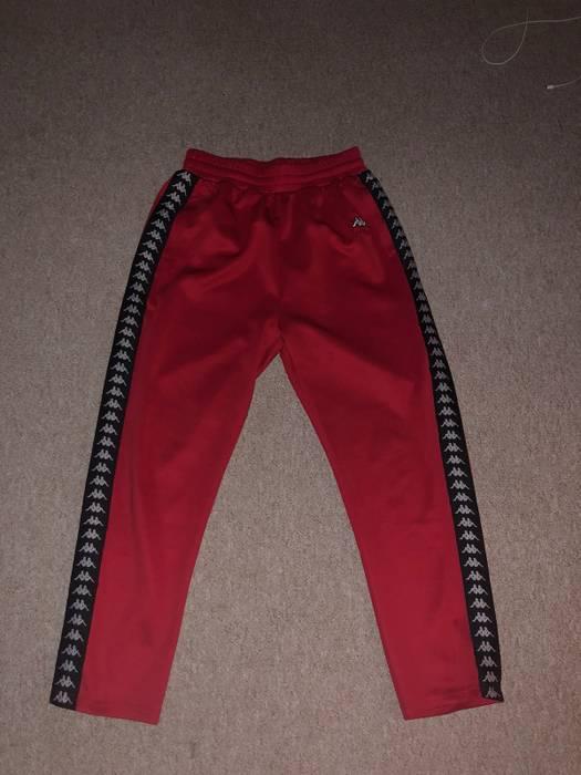 Gosha Rubchinskiy Kappa x Gosha Rubchinskiy Track Pants Red w Black Stripe  Size US 32   12405f96393a1
